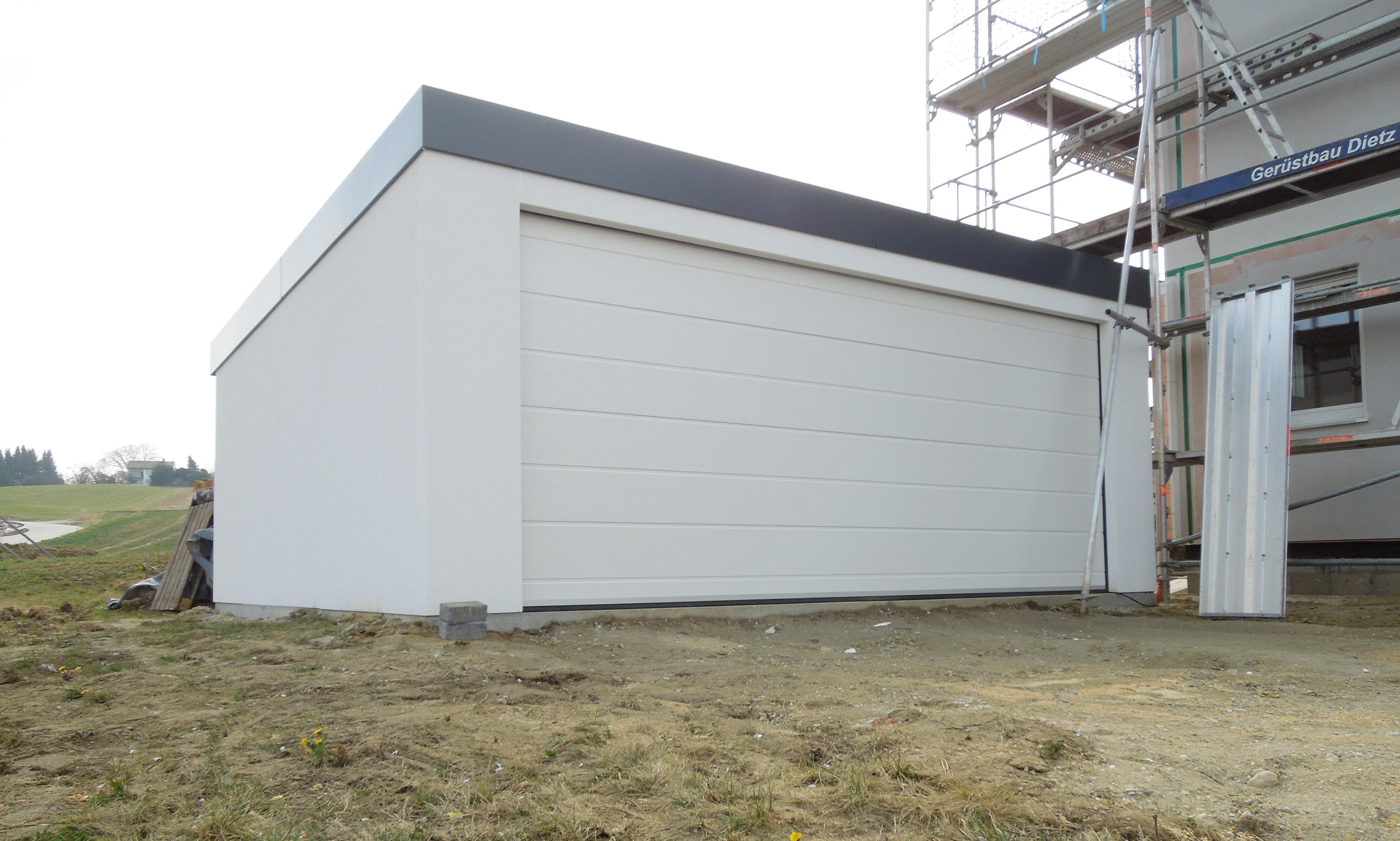 Fertiggarage 6x6m großraumgarage garage 6x6m in holzständerbauweise mit sektionaltor