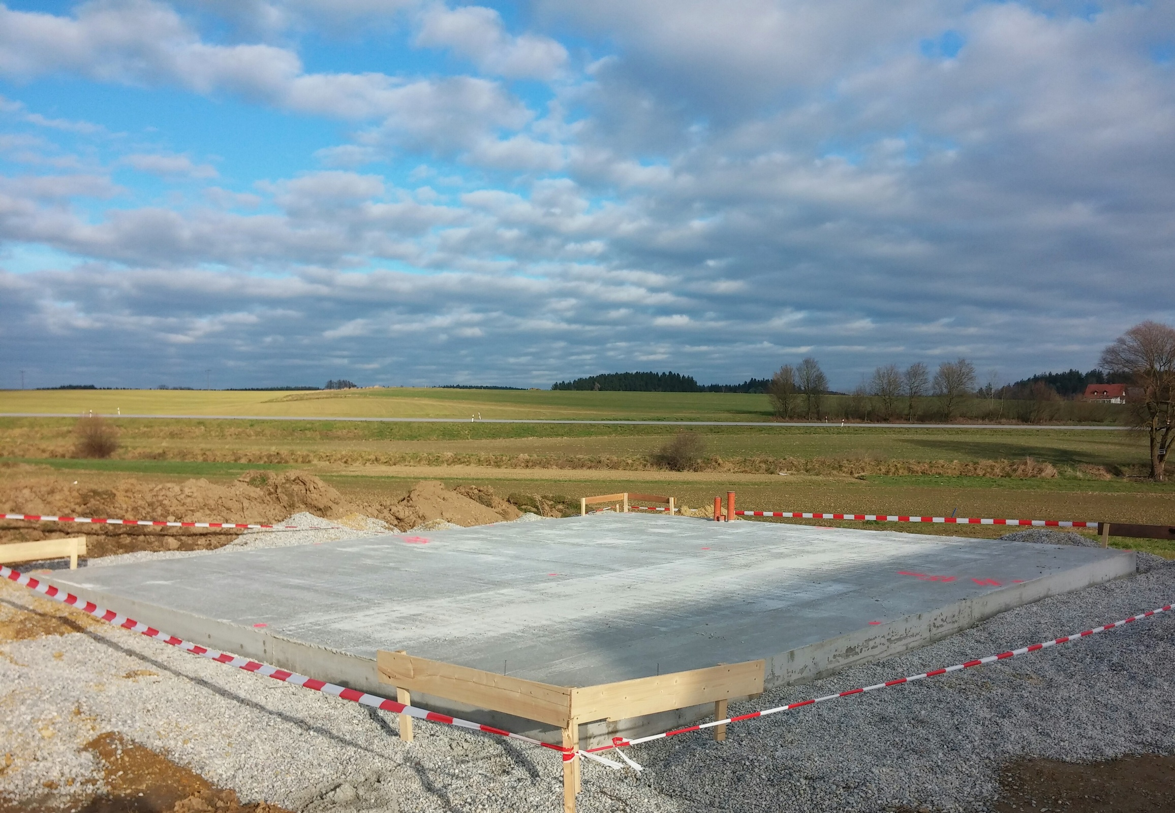 Bild Fundament Bodenplatte Garage