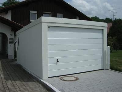 garage 3 6 meter in holzst nderbauweise mit sektionaltor und nebent r fink garage. Black Bedroom Furniture Sets. Home Design Ideas