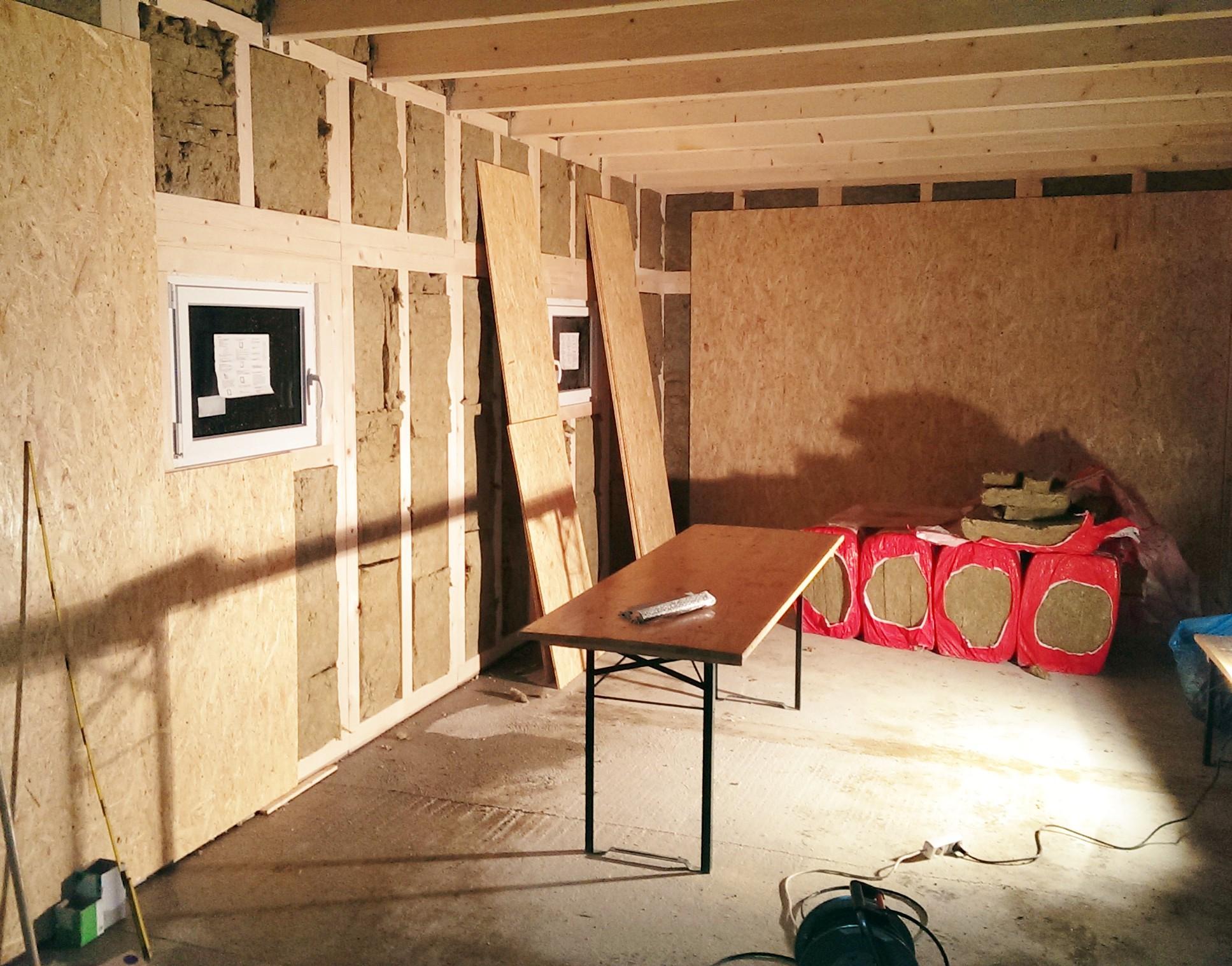 Bild Innenausbau Garage für Wohnmobil