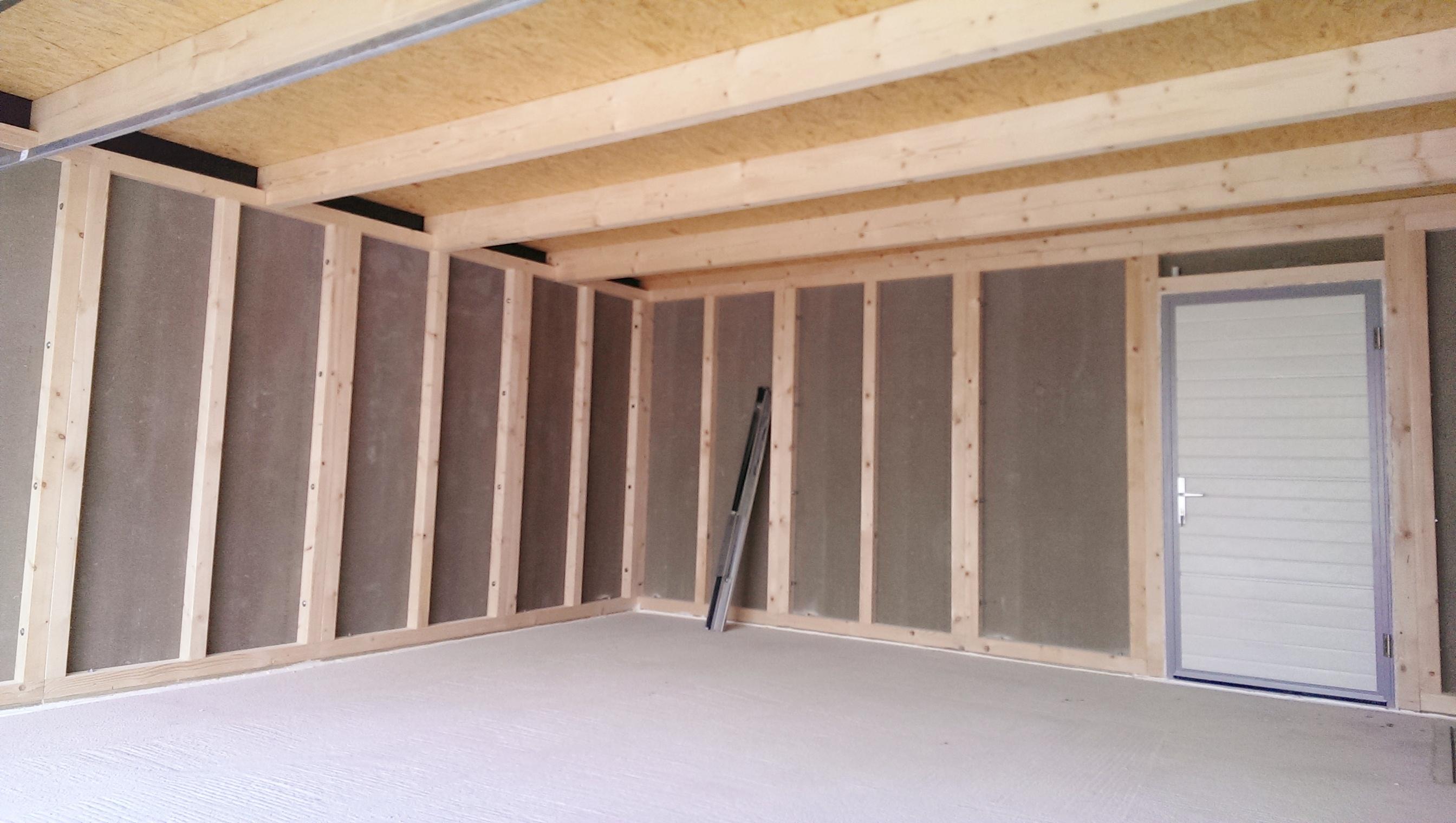 Garage Holz innen