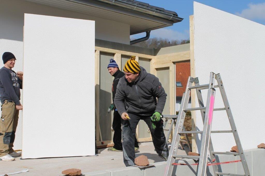Bild Aufbau Garage Holzständerbauweise 3