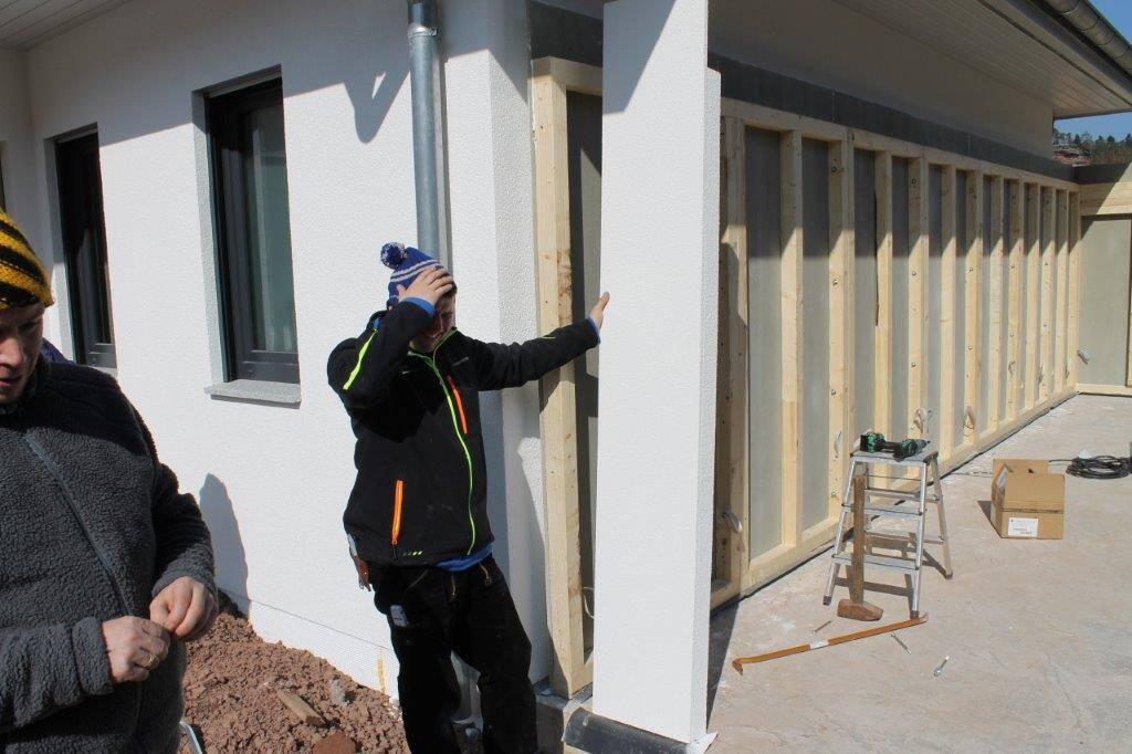 Bild Aufbau Garage Holzständerbauweise