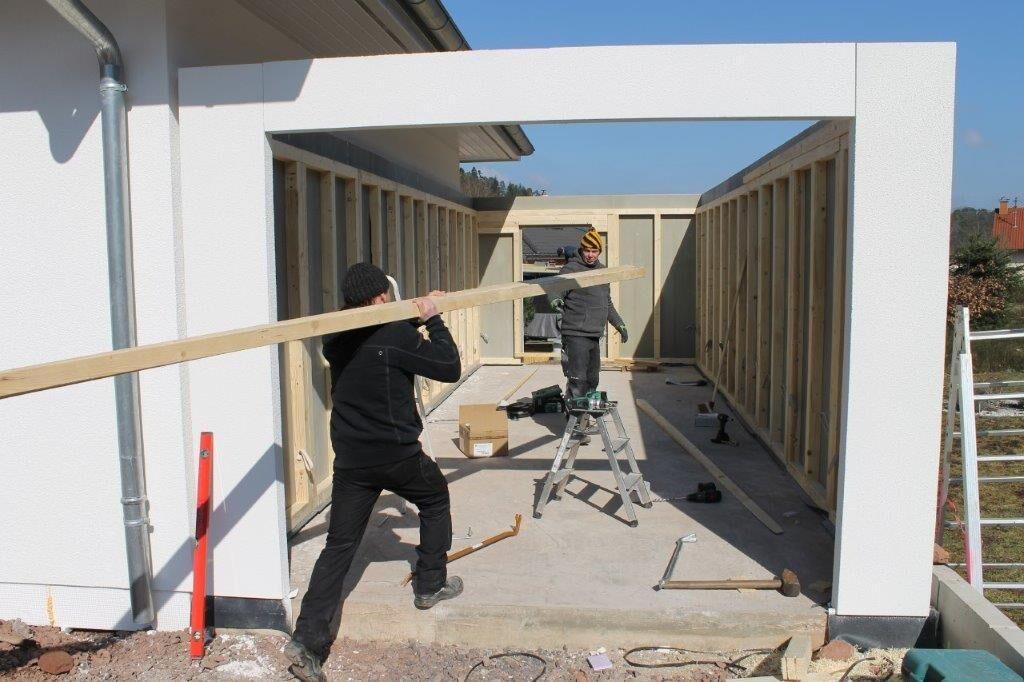 Bild Aufbau Garage Holzständerbauweise 5