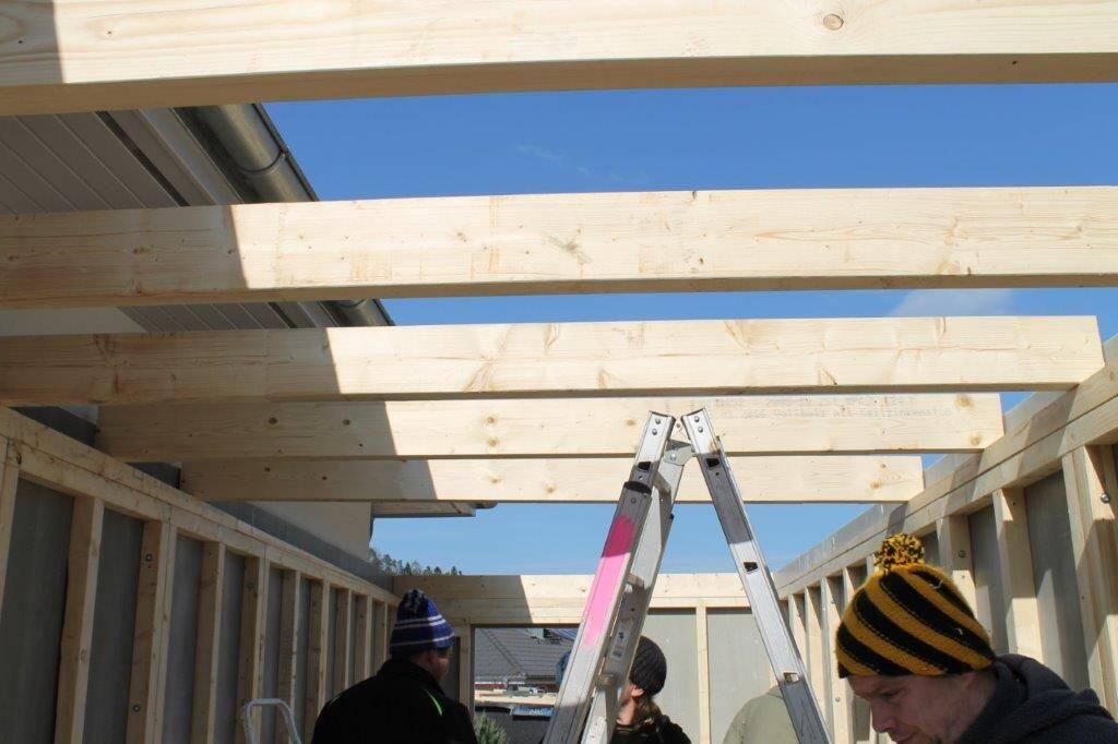 Bild Aufbau Garage Holzständerbauweise 6