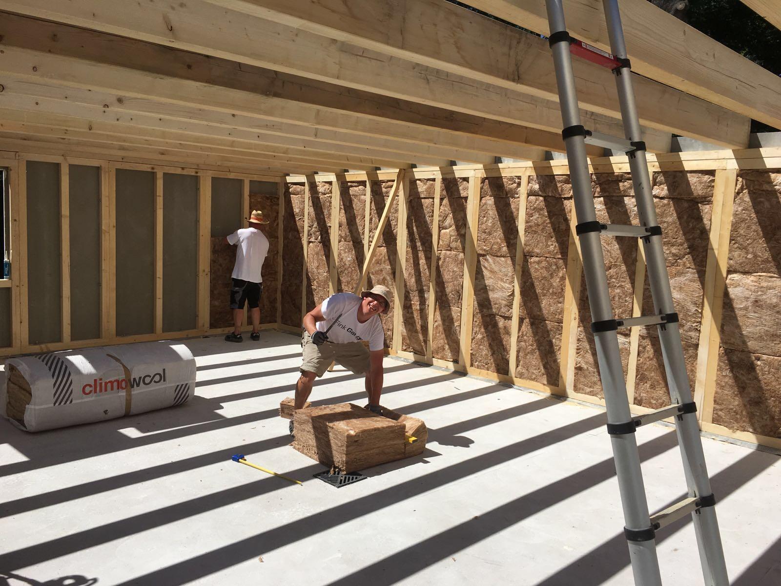 Dämmung der Fink Garage