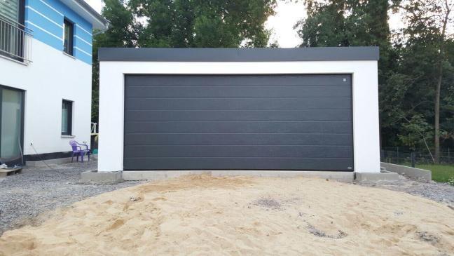 Garage in Holzständerbauweise in Gera/Thüringen.