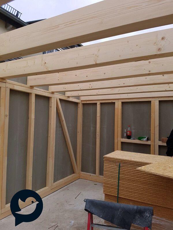 2 fink garagen in holzst nderbauweise mit dachbegr nung in ladenburg bw fink garage. Black Bedroom Furniture Sets. Home Design Ideas