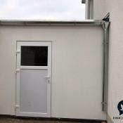 Fink Garage Ladenburg Einzelgarage Rückansicht mit Tür