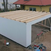 Dachkonstruktion Fink Garage Berlin
