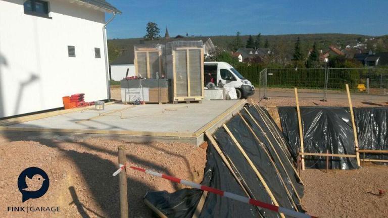 Fink Garage Weiler- Bodenplatte Schwelle