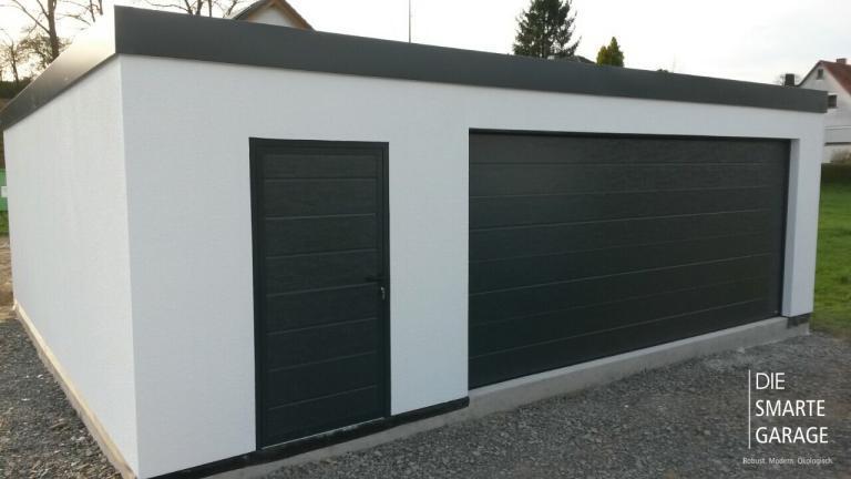 Feritige Garage - Fink Garage Dautphetal / Hessen - Großraumgarage in Holzständerbauweise