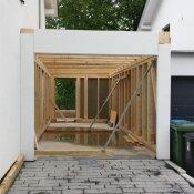 Fink Garage / Groß-Umstadt / Hessen - Aussenansicht Aufbau